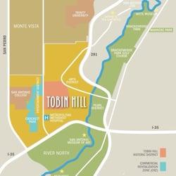 Tobin Hill Neighborhood Active Life Josephine St And N St - San antonio on us map