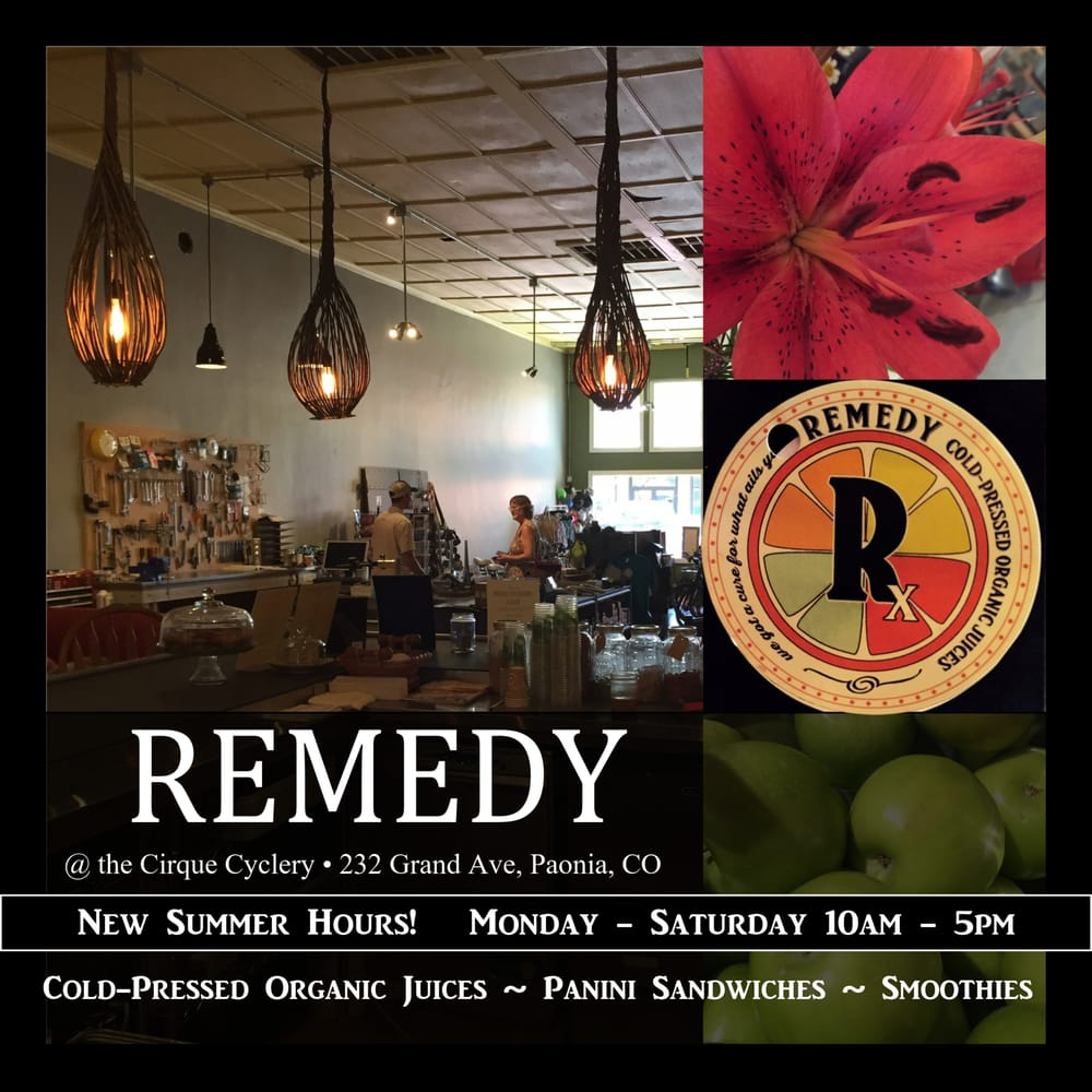 Remedy Juice Bar: 232 Grand Ave, Paonia, CO