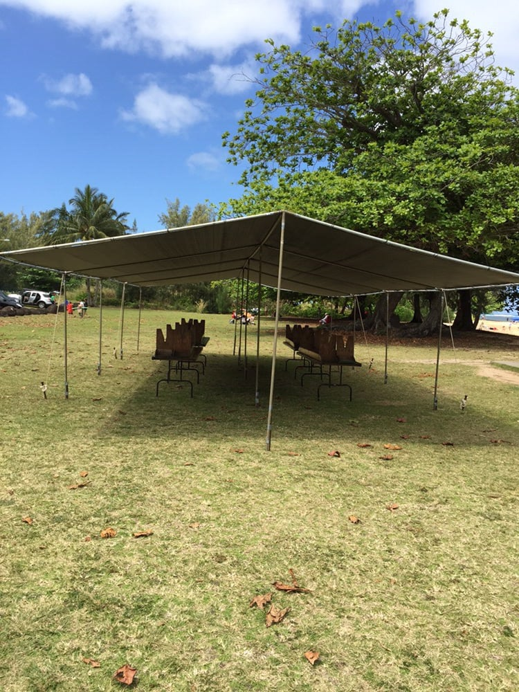 Photo of Ibaan Table u0026 Tents Rentals - Lihue HI United States. EZ & EZ corner tents available for pick-up only. Tent sizes go from ...