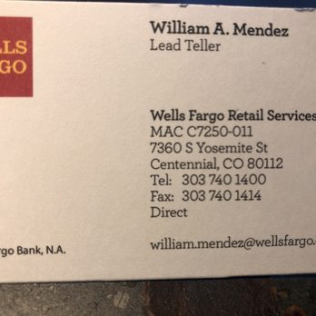 Wells Fargo Bank - Banks & Credit Unions - 7360 S Yosemite St