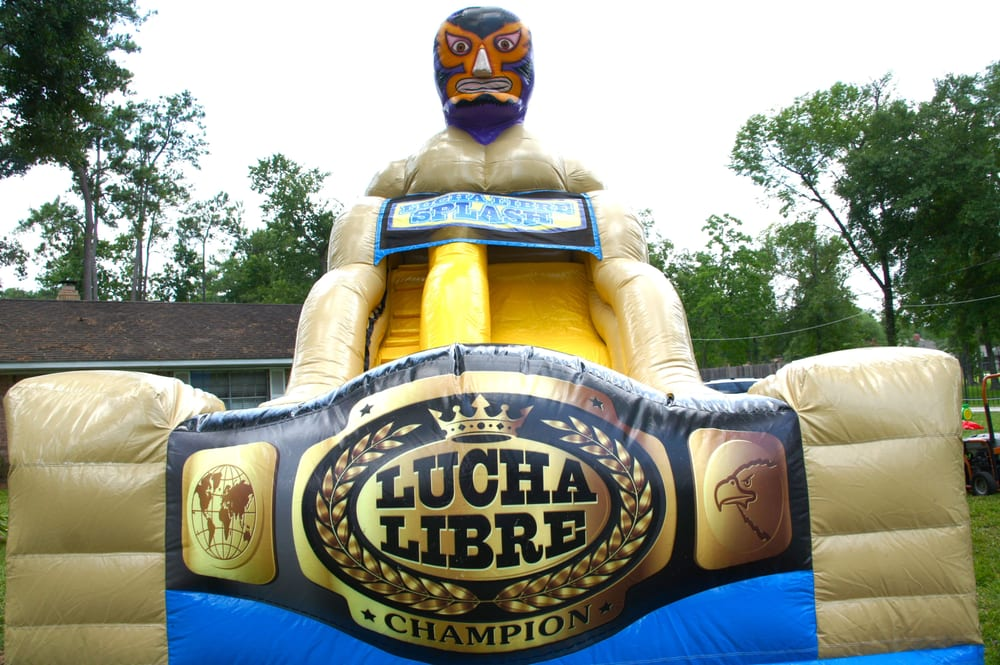 Lucha Libre Water Slide Moon Bounce Fits A Lot Of Party Themes