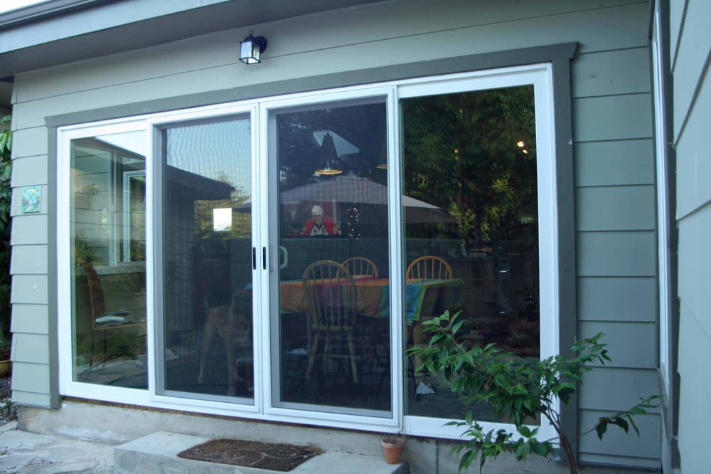 4 panel sliding glass door closed yelp for Three panel sliding glass door