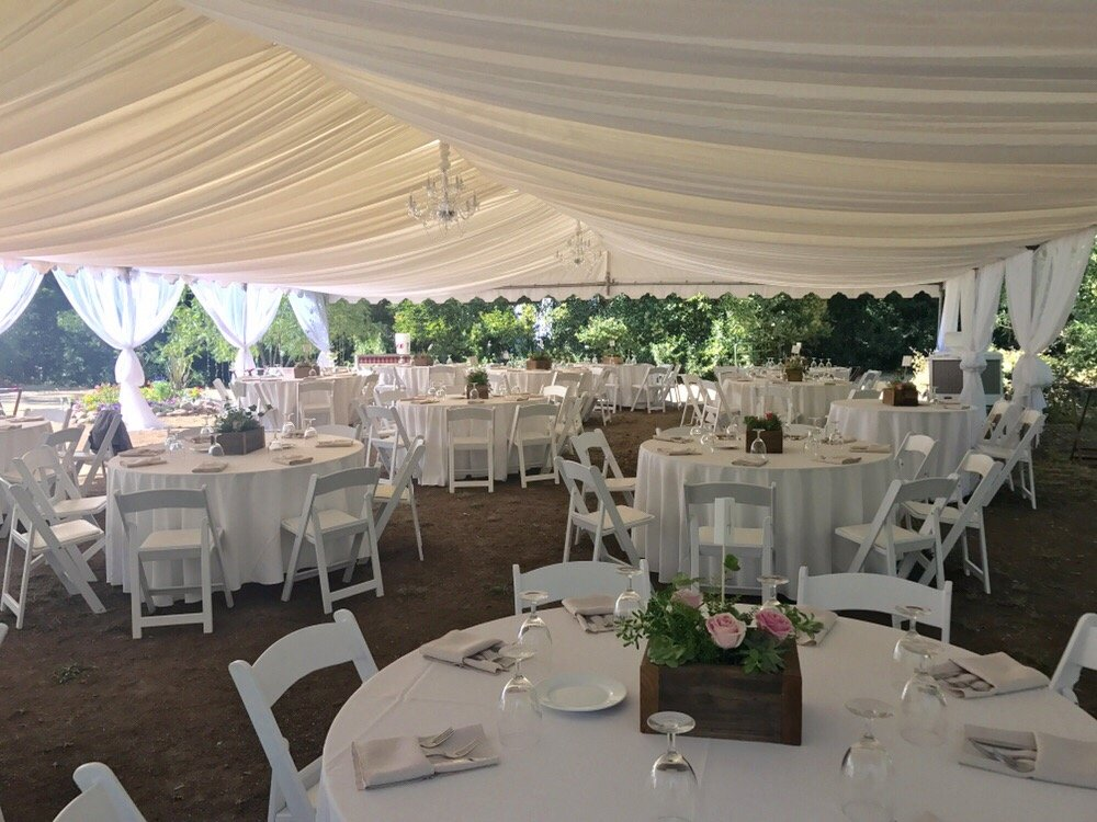 Tented Wedding Reception At Private Residence In Butte Creek Canyon