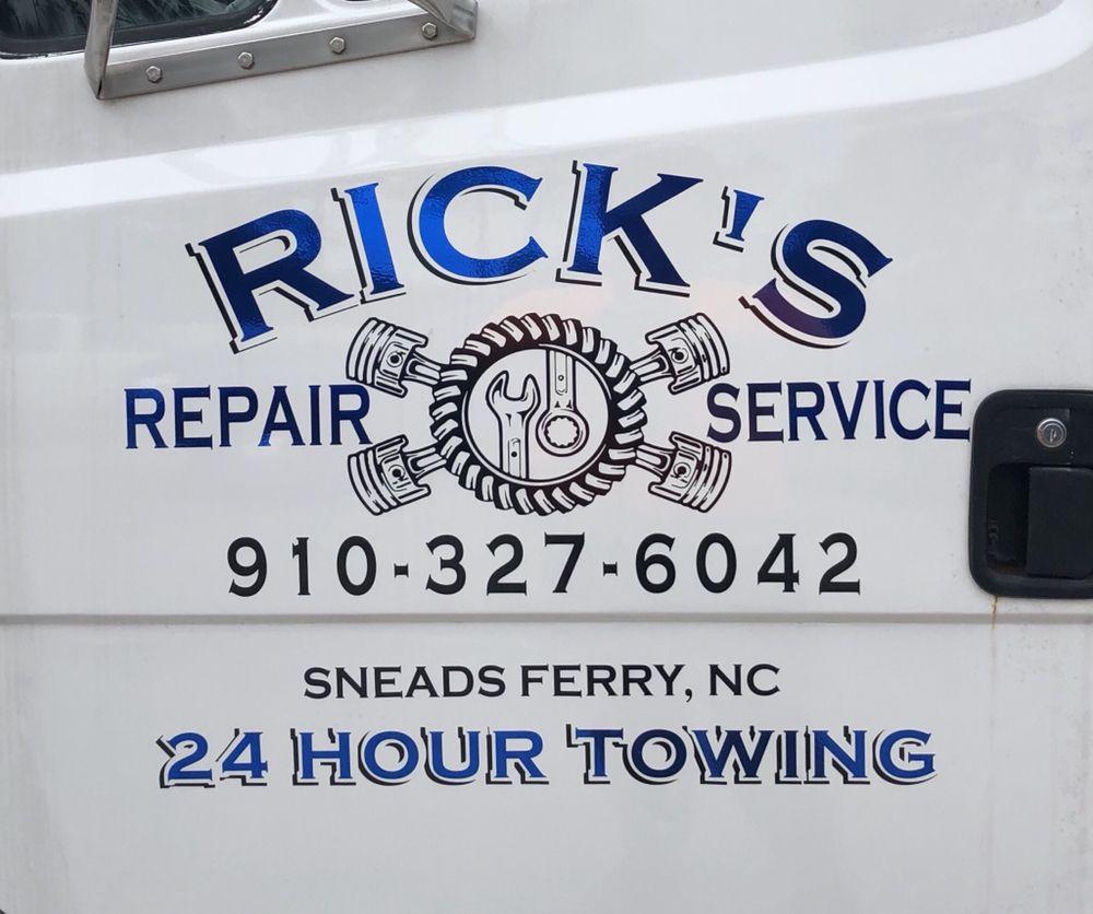 Ricks Repair Service: 1849 Hwy 172, Sneads Ferry, NC