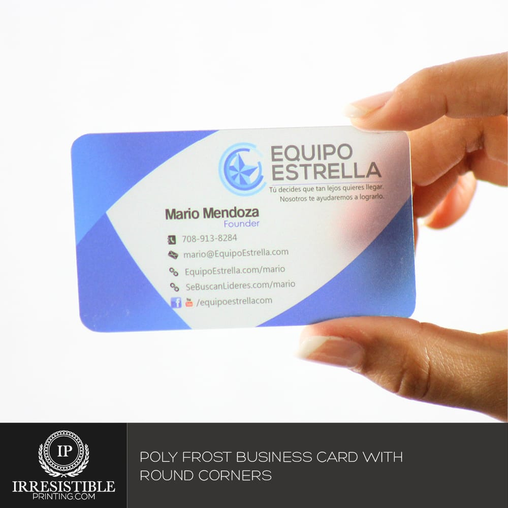 Plastic Poly frost business cards are a wow factor card. http://www ...