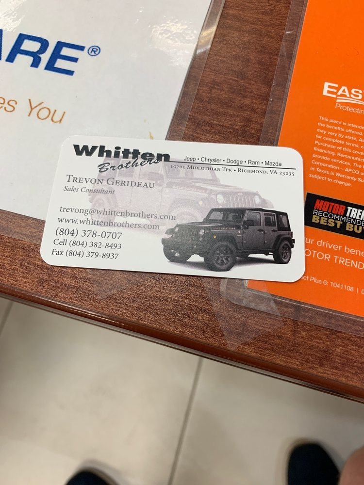 Whitten Brothers Jeep >> Photos For Whitten Brothers Chrysler Jeep Dodge Mazda Yelp