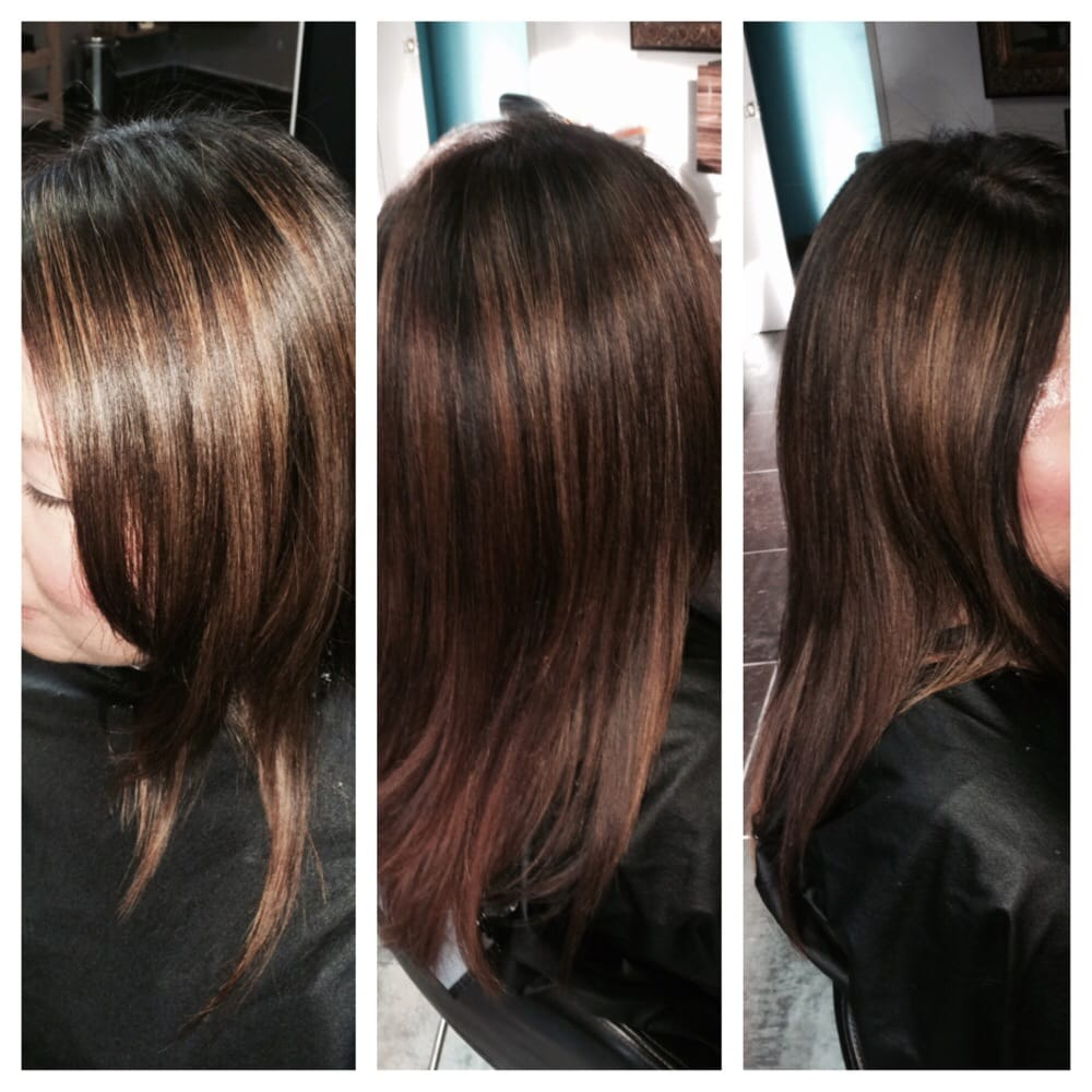 Beachy highlights on Asian hair. Color by David Langit - Yelp