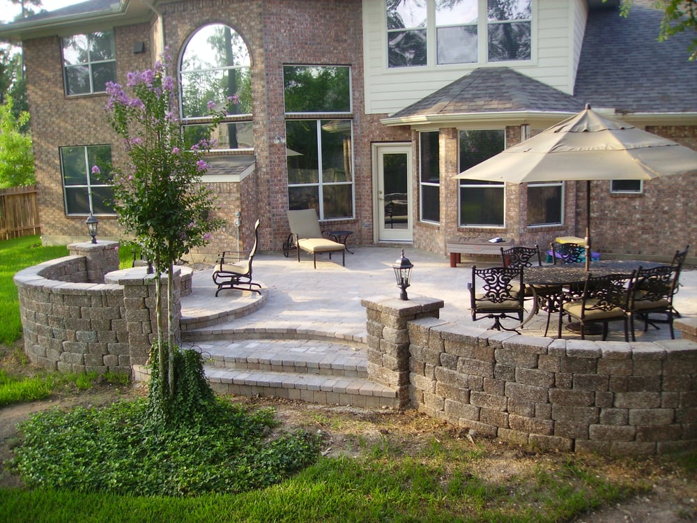 how to build a raised paver patio