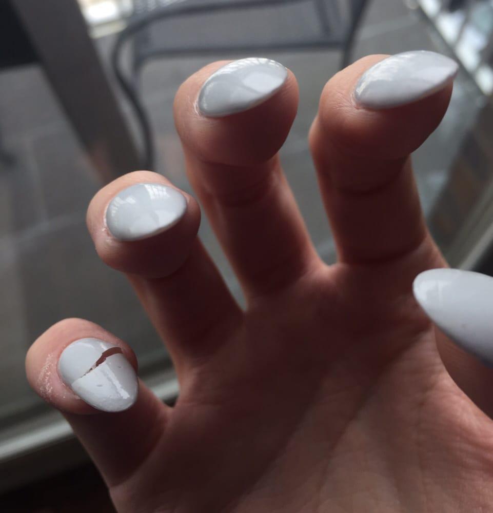 Broken nail three days after a fill - Yelp