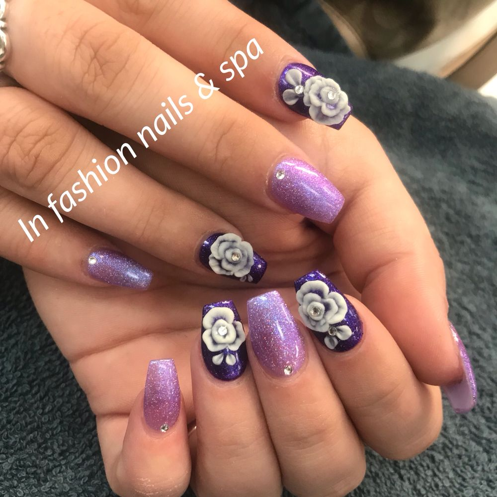3D flowers over sns nails... perfect for the summer time ladies - Yelp