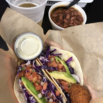 Photo Of The Catch Longview Tx United States Fish Tacos Beans