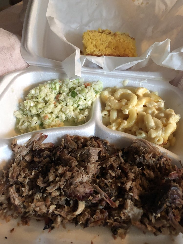 Food from Stone House BBQ