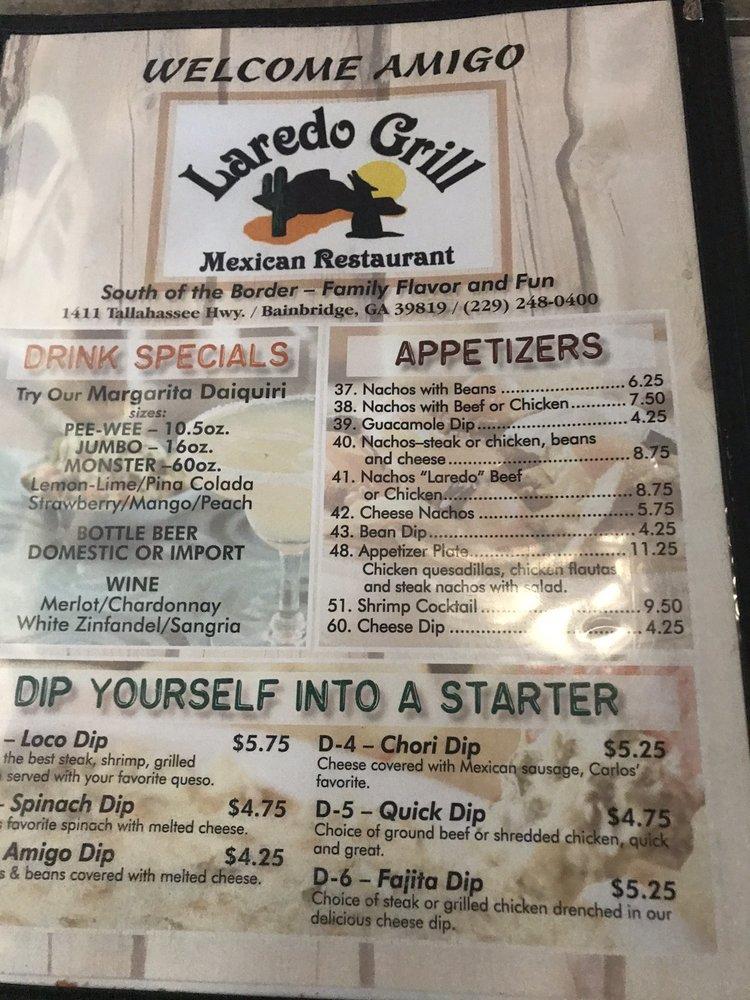 Laredo Grill: 1411 Tallahassee Hwy, Bainbridge, GA