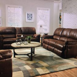 Photo Of Boxdrop Greenville Sc United States Leather Reclining Sofa And Love