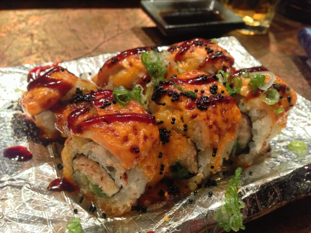 Volcano Roll Baked Salmon With Spicy Cream Sauce Snow