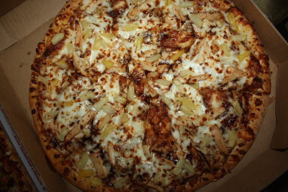 Large premium chicken and pineapple w/ bbq sauce - Yelp