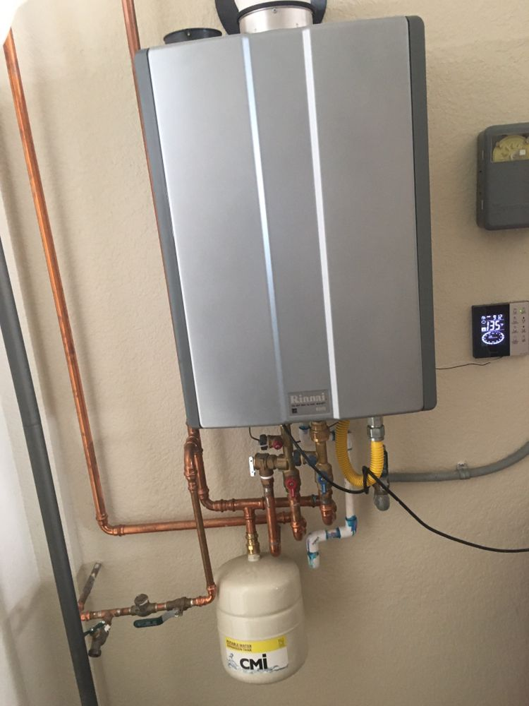 ron is tankless water heater installed with expansion tank and