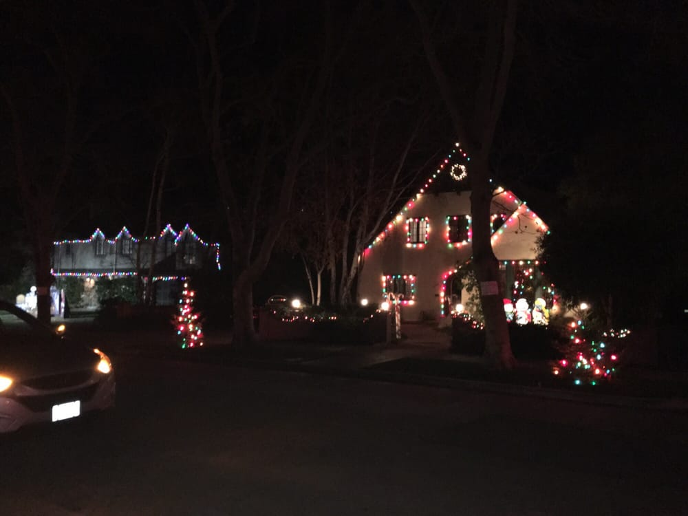 Christmas Tree Lane Palo Alto