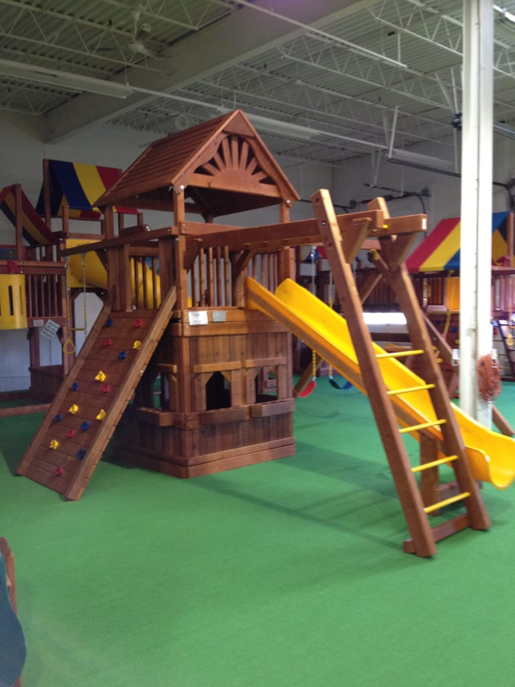 prices rainbow at systems wisconsin swing of play set birthday area northeast parties slide