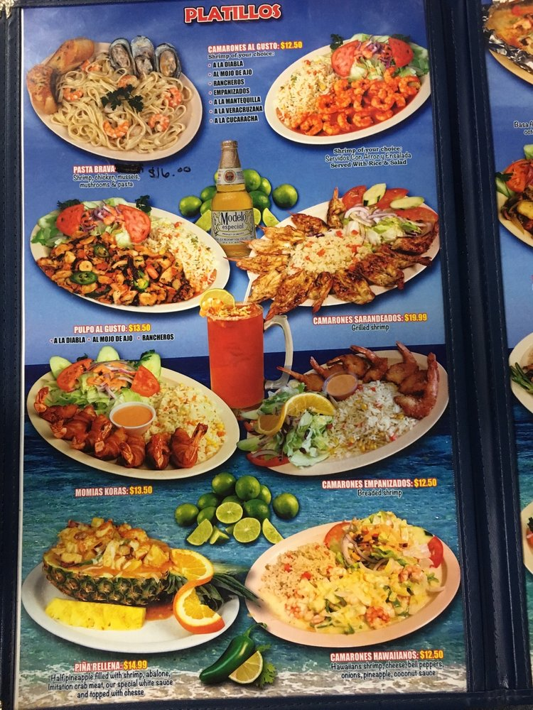 Permalink to Marias Restaurant Menu