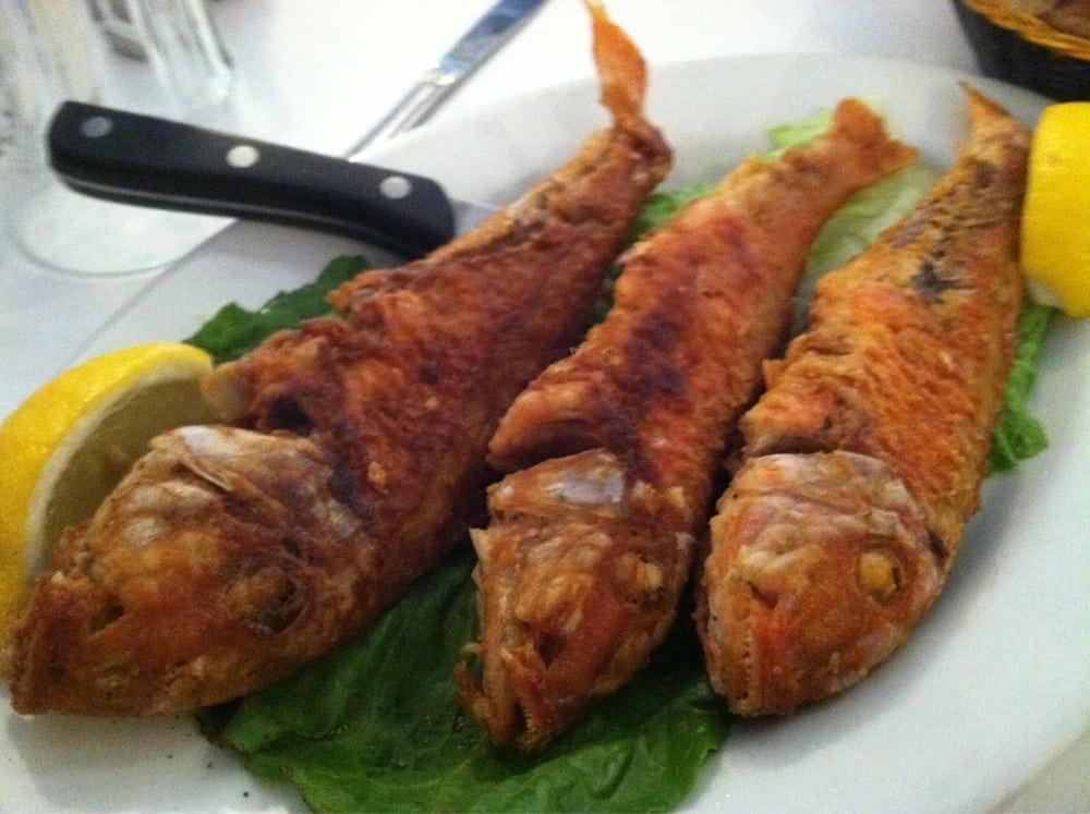 Crispy barbunia red mullet yelp for Authentic greek cuisine