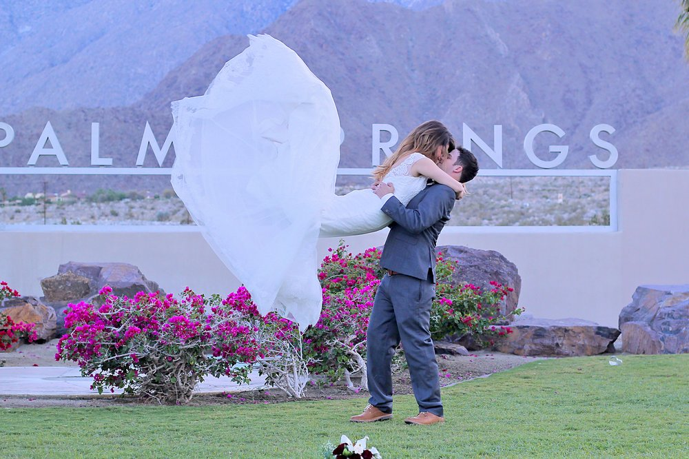 Bride And Groom At The Famous Palm Springs Sign Yelp