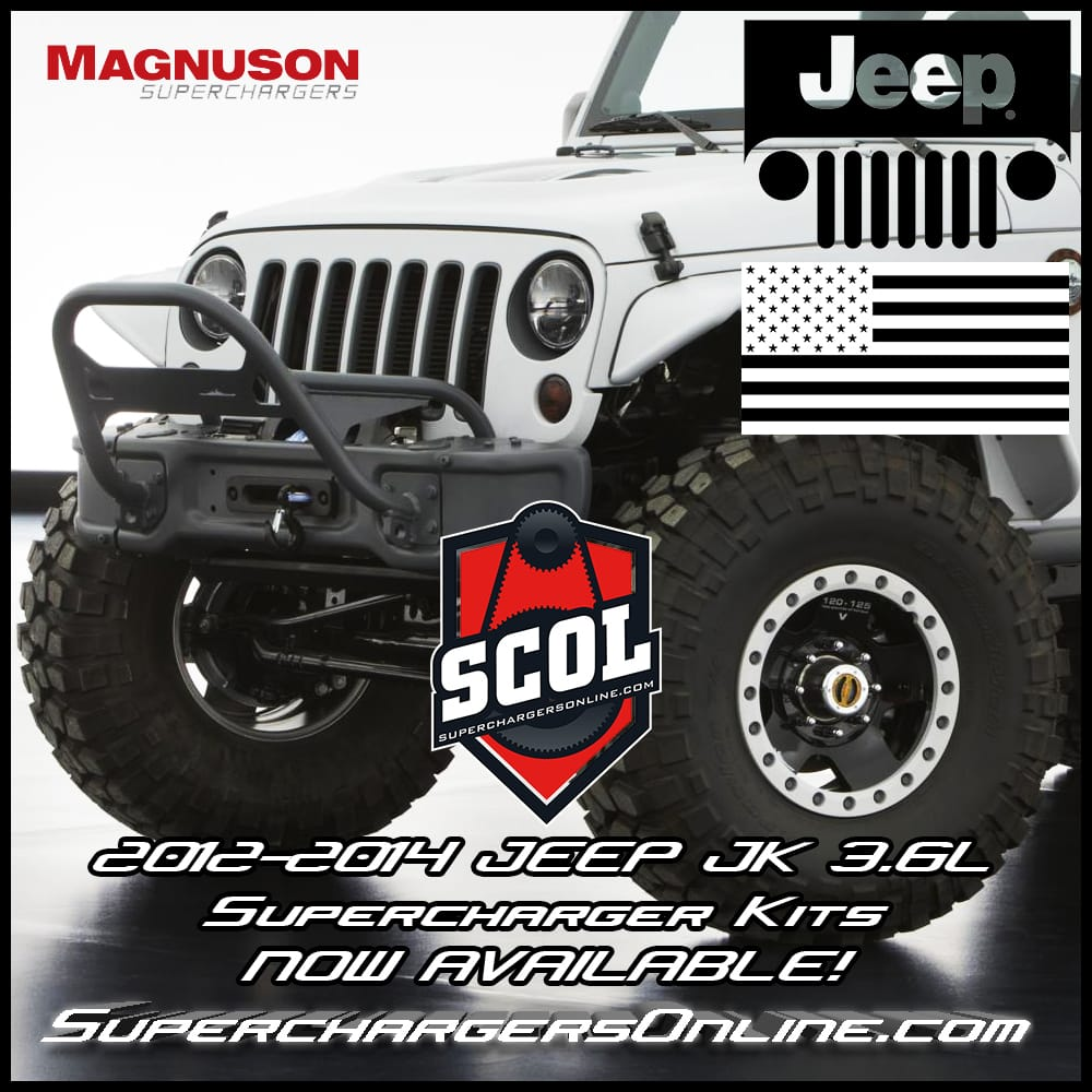 Jeep Supercharger Kits: Jeep 3.6L JK Supercharger Kits IN STOCK