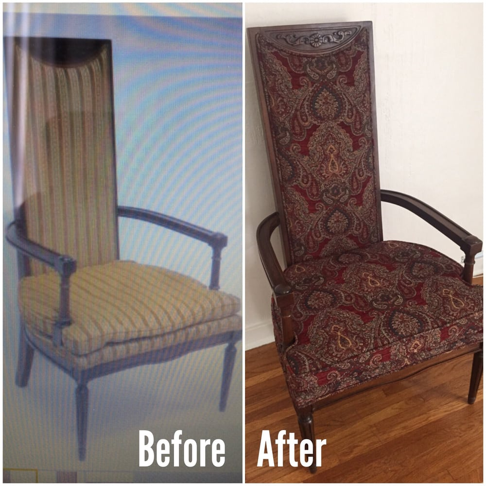 Antique Sofa Reupholstery Cost: Vintage Spanish Style Chair Is Given New Life By Roberto's