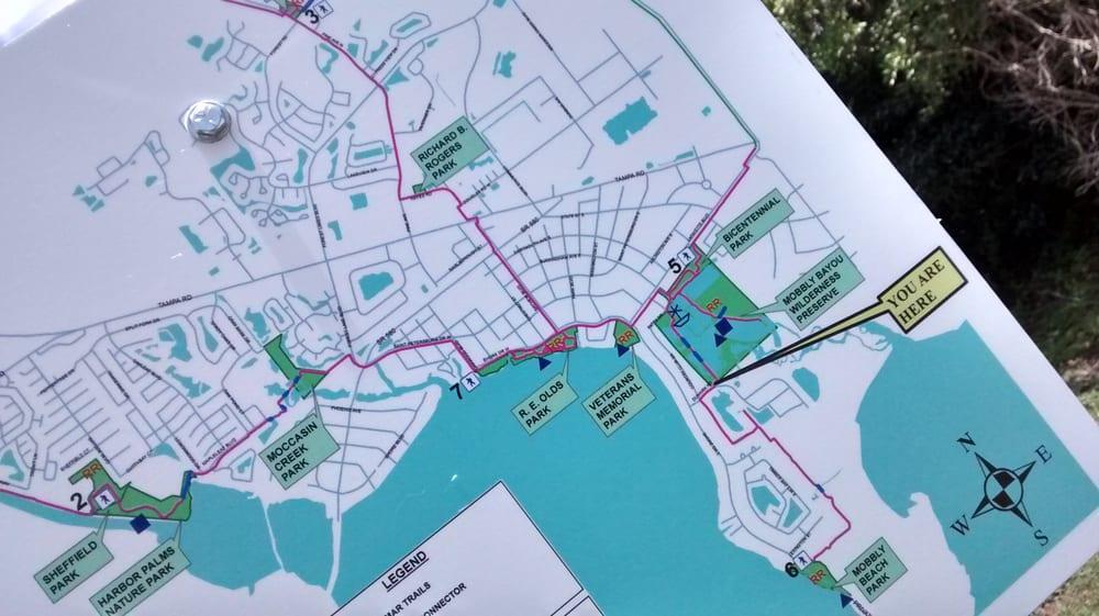 Oldsmar Florida Map.Oldsmar Trail Map Closeup Yelp