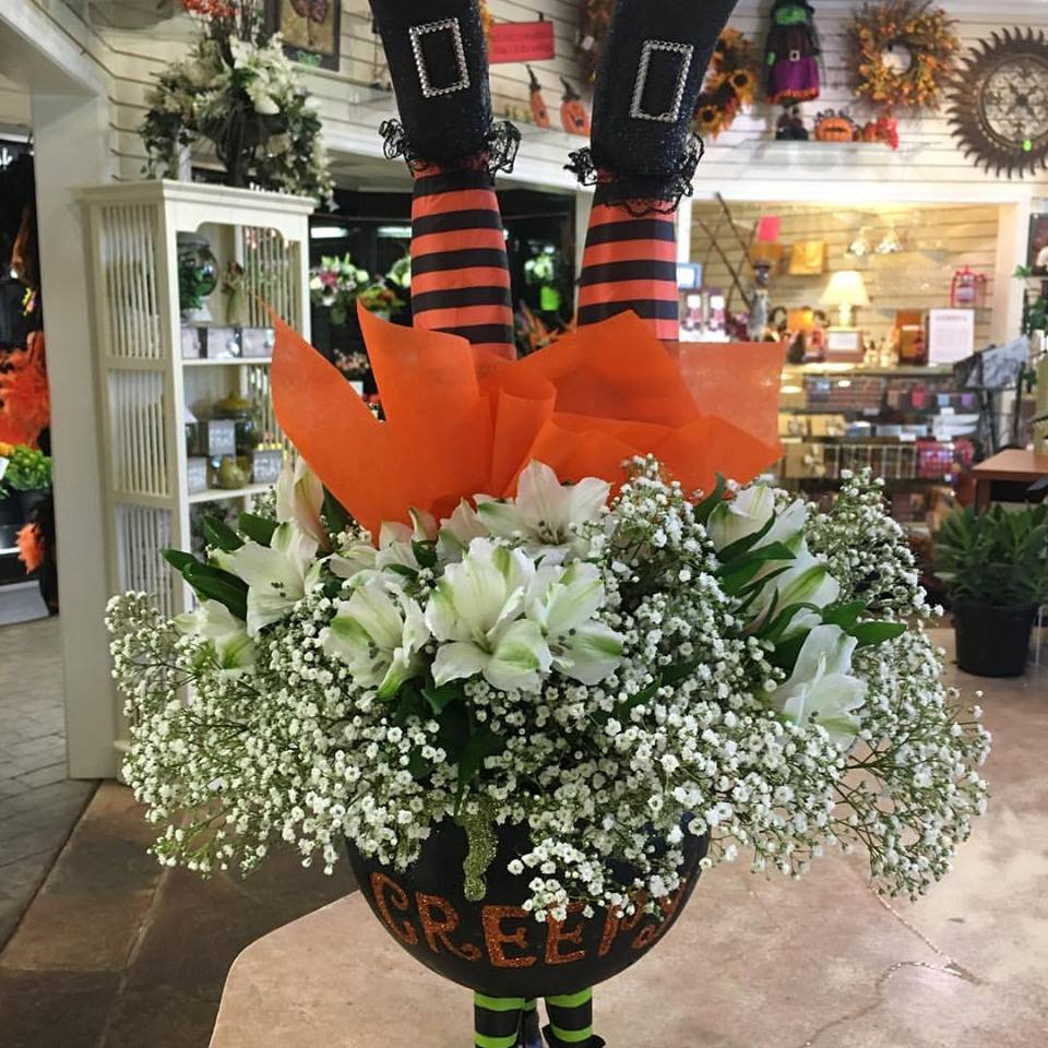 Our Halloween Themed Arrangement Proves That Flowers Are Appropriate