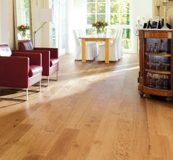 The Finishing Touch Floors: This Haro White Oak Plank Hardwood Flooring Creates A