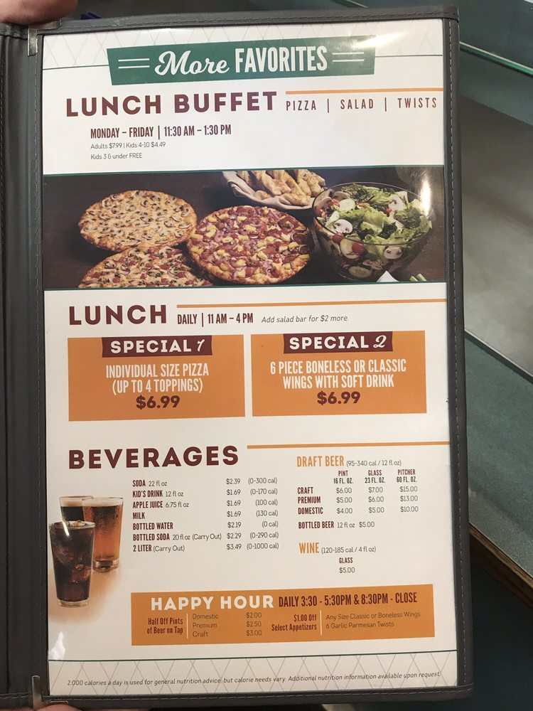 Round Table Lunch Buffet Latest, Round Table Calories