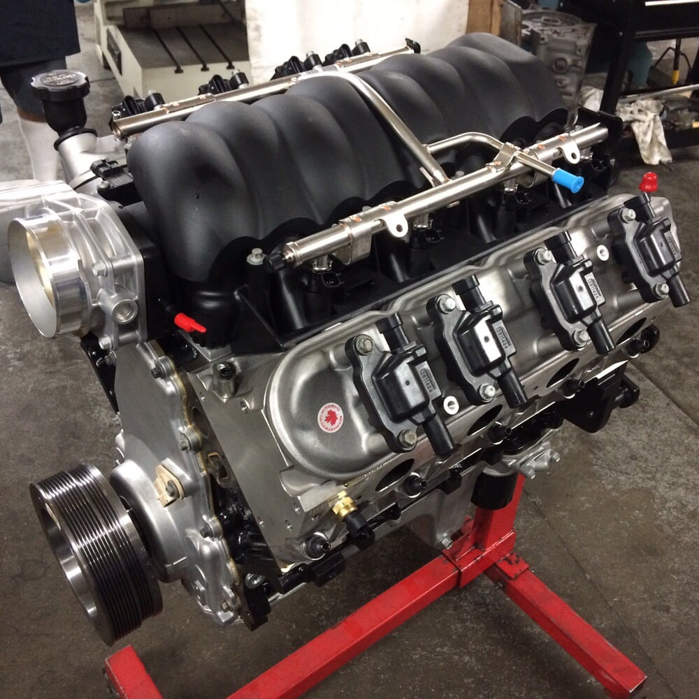 Gm ls3 408 stroker engine pump gas daily driver 648hp for Motor machine shop near me