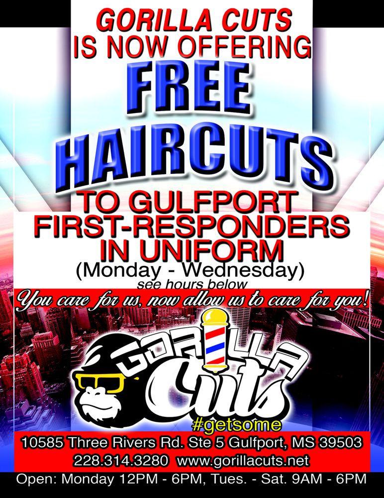 Gorilla Cuts: 10585 Three Rivers Rd, Gulfport, MS