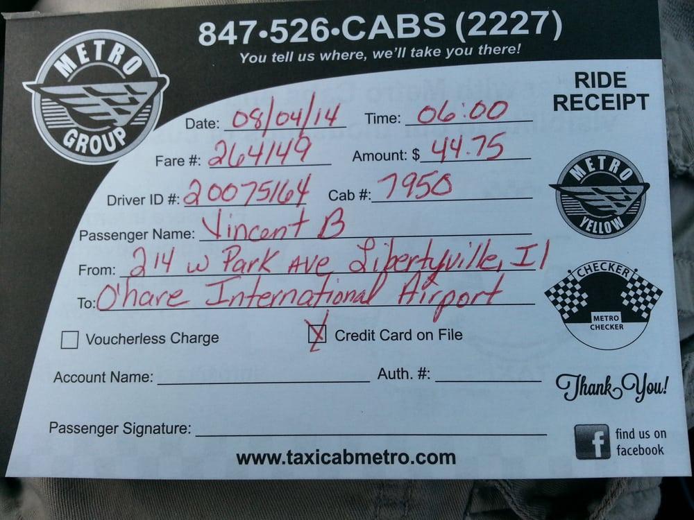 Metro Checker Taxi: 808 N Milwaukee Ave, Libertyville, IL