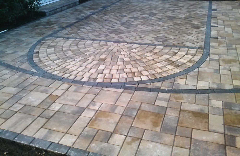Calstone pavers make a great basketball court yelp for Making a basketball court