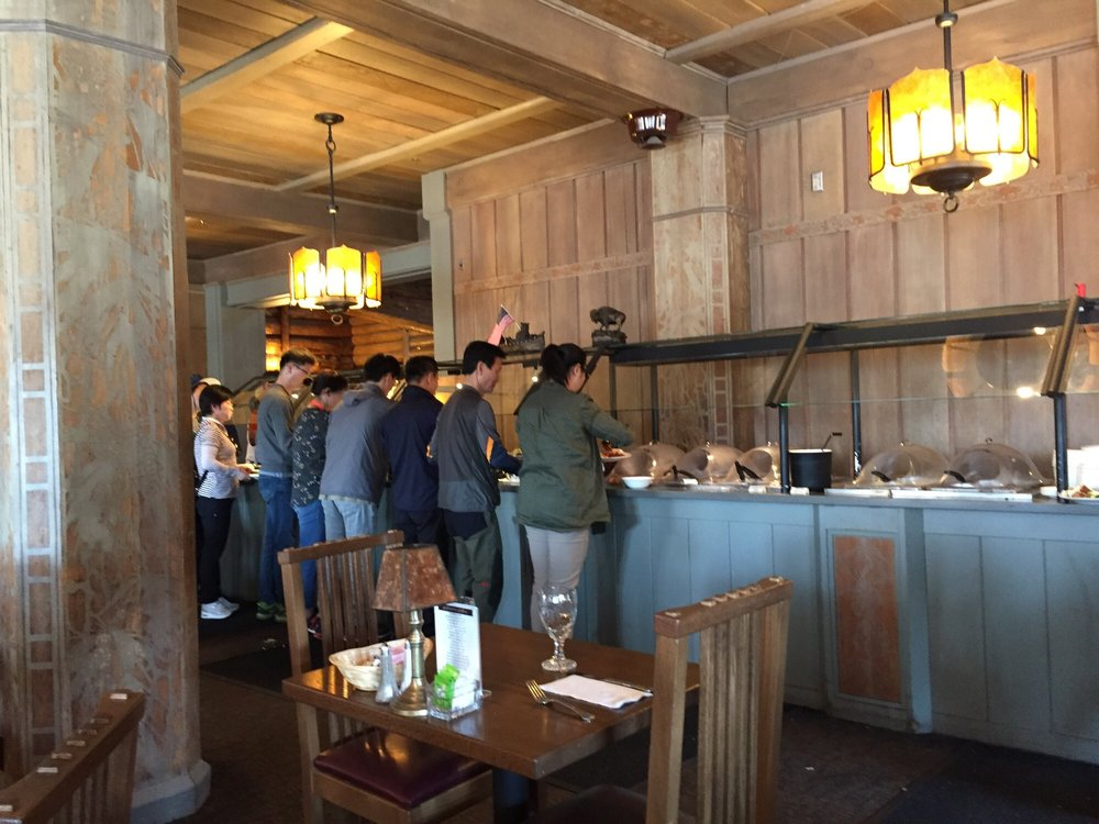 Buffet Line Wraps Around The Dining Room Yelp Adorable Old Faithful Inn Dining Room Menu
