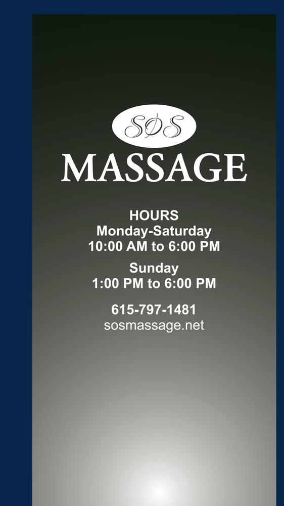 SOS Massage: 111 Church St, White Bluff, TN