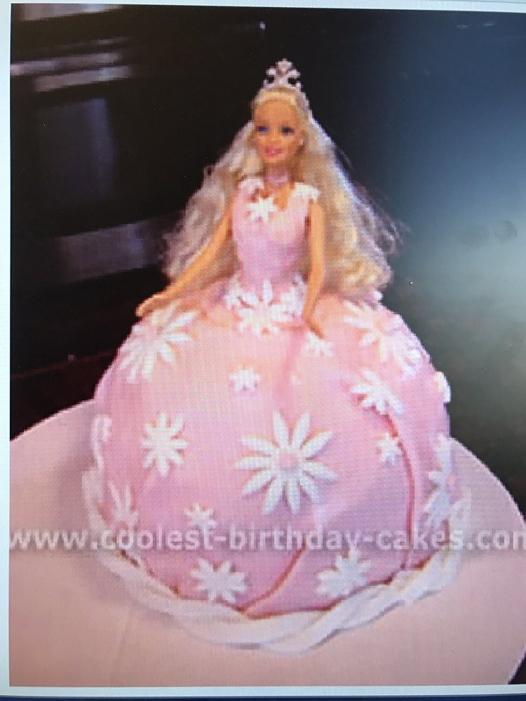 The Barbie Cake Design I Provided Yelp