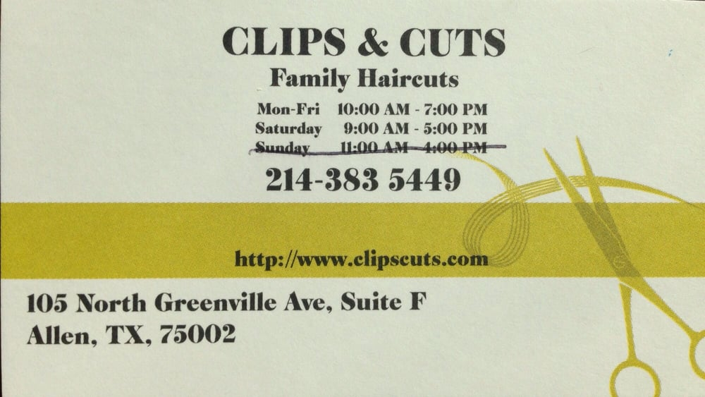 Clips Cuts 17 Reviews Hair Salons 105 N Greenville Ave
