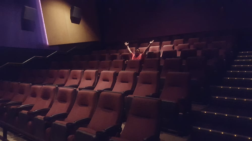 Woohoo Empty Theater This Is The Perfect Way To Do Movies Lol