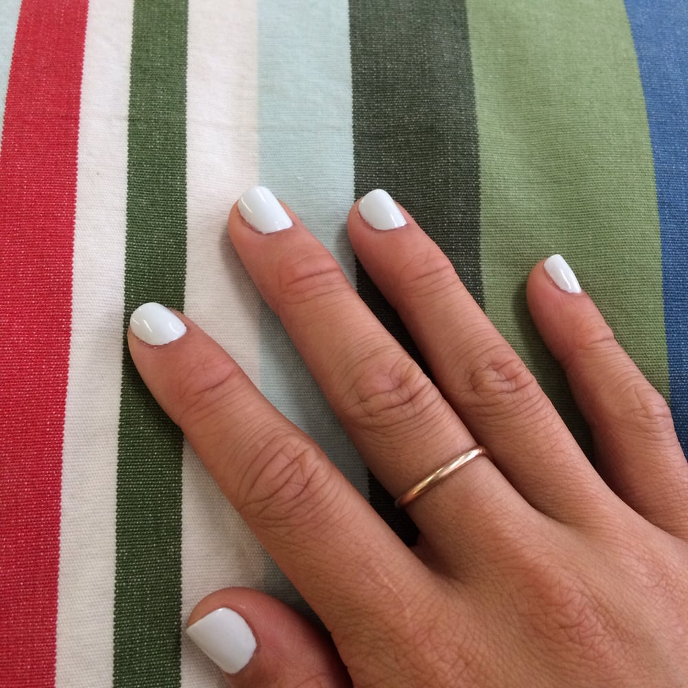 Pale blue/white/gray manicure -- as far as I\'m concerned done quite ...