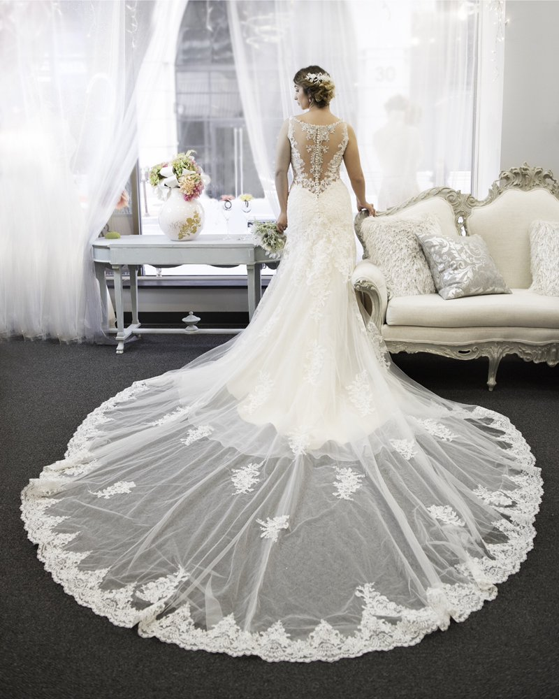 Inside Our Boutique With A Beautiful Bride And Beautiful Wedding