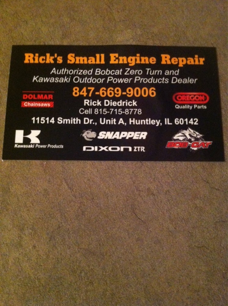 Rick's Small Engine Repair Auto 11514 Smith Dr Huntley
