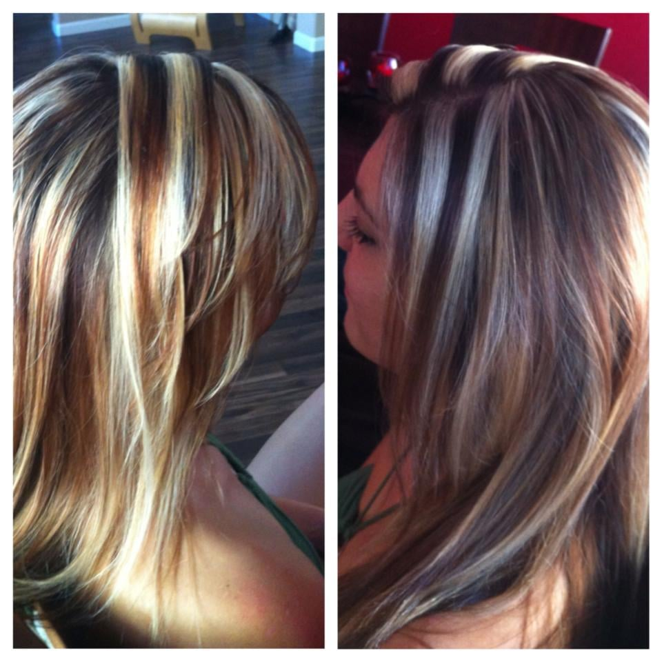 Chunky Blonde Highlights By Sarah Yelp