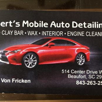 photo of roberts auto detailing beaufort sc united states business card - Car Detailing Business Cards