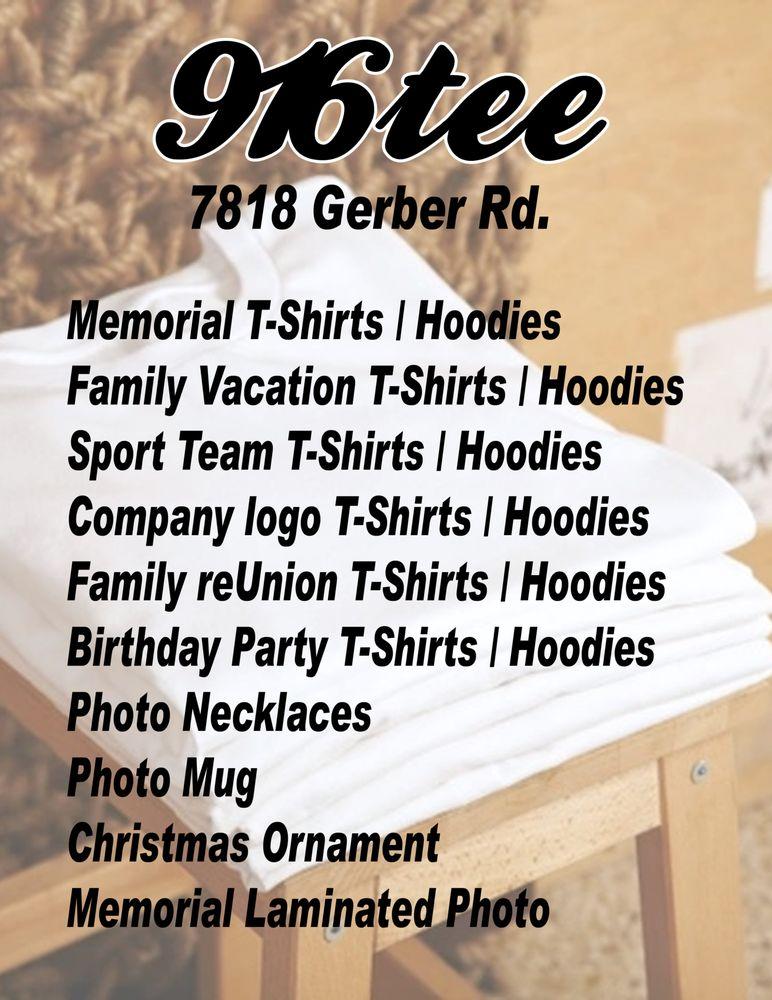 916Tee Custom T-Shirt: 7818 Gerber Rd, Sacramento, CA