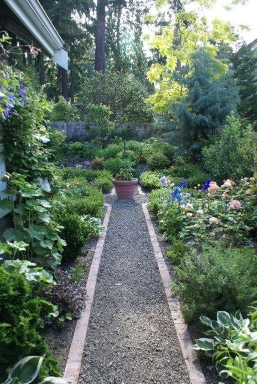Crushed Rock Amp Brick Path Through A Lush Perennial Garden