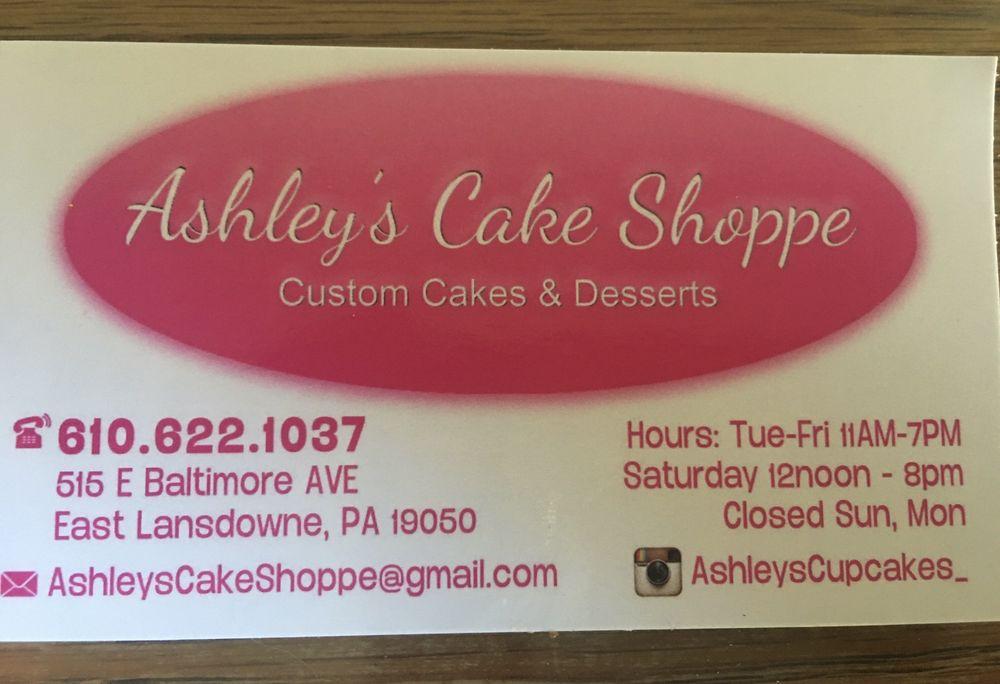 Ashley's Cake Shoppe: 515 E Baltimore Ave, East Lansdowne, PA