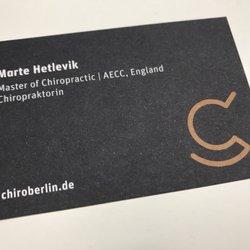 Chiropraktikzentrum berlin chiropractors spichernstr 15 photo of chiropraktikzentrum berlin berlin germany nicht nur tolle visitenkarten und ein super reheart Choice Image
